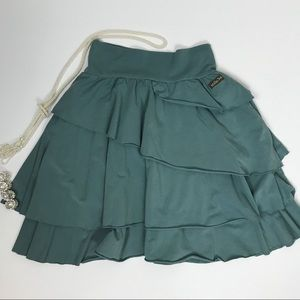 MATILDA JANE RHEA Skirt Tiered Green Size Small